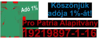 Pro Patria Alapítvány adó 1%